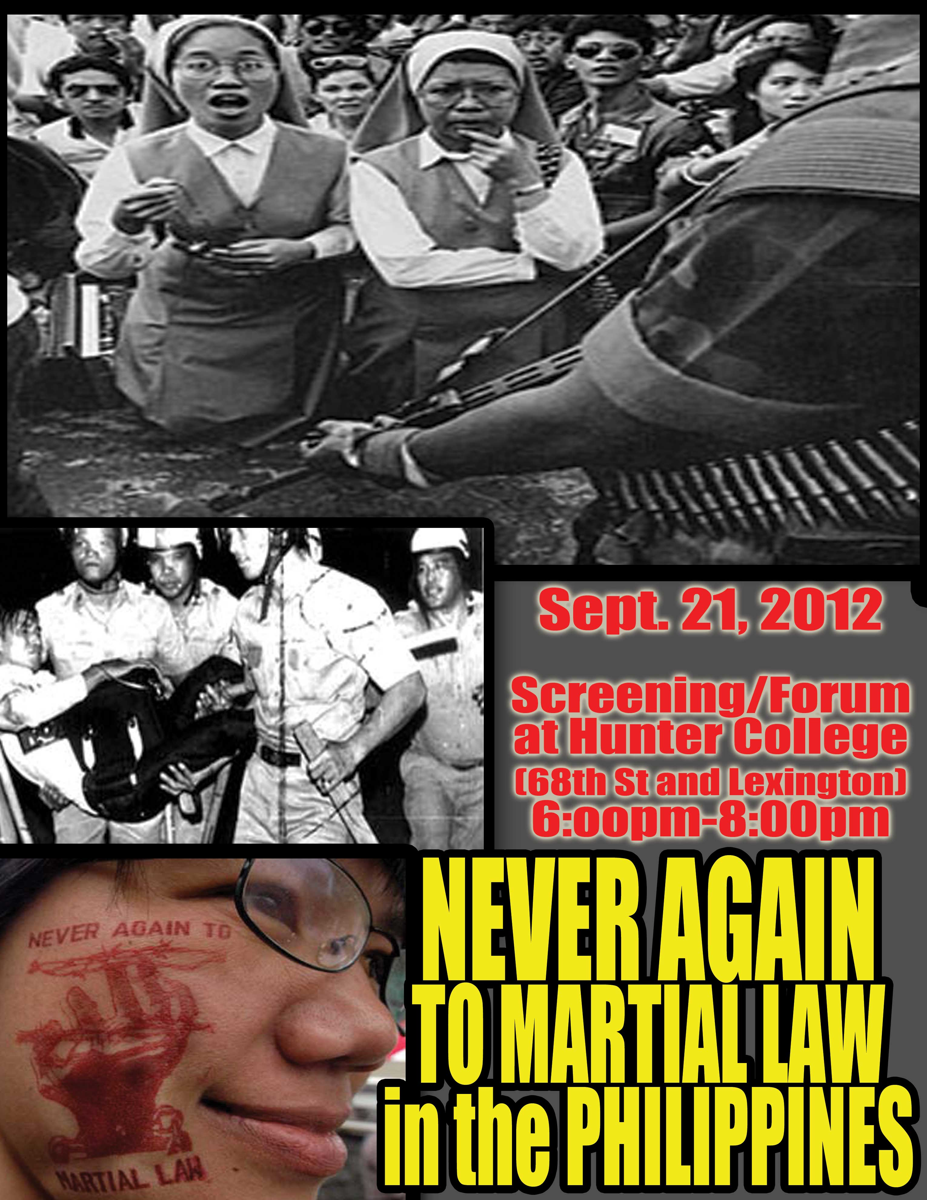 TODAY: Never Again to Martial Law in the Philippines, 40th Anniversary