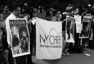 NYCHRP participating in internationally coordinated action led by International Coalition for Human Rights in the Philippines (ICHRP) to bring attention to the systematic killings of Lumad people in Mindanao. Union Square, NYC. Photo Courtesy of Balitang New York.