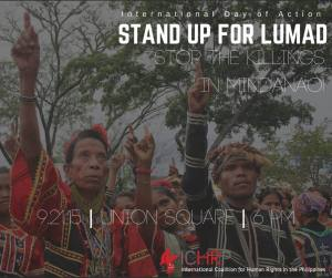 9/21 - Stand Up For Lumad! Stop the Killings in Mindanao!