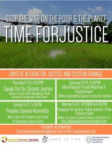 9/24-28 - Stop the War on the Poor and the Planet: Time for Justice!