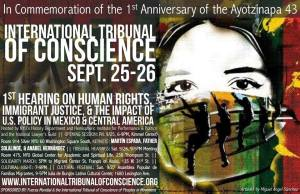 9/25-26 - International Tribunal of Conscience to Commemorate the 1st Anniversary of the Ayotzinapa 43
