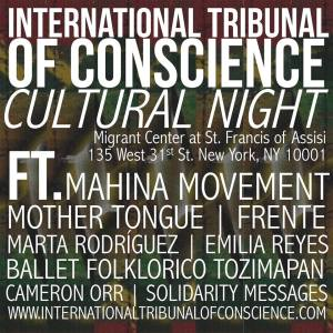 9/26 - International Tribunal of Conscience Cultural Night