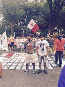 Antonio Tizapa (left), father of one of the Ayotzinapa 43.