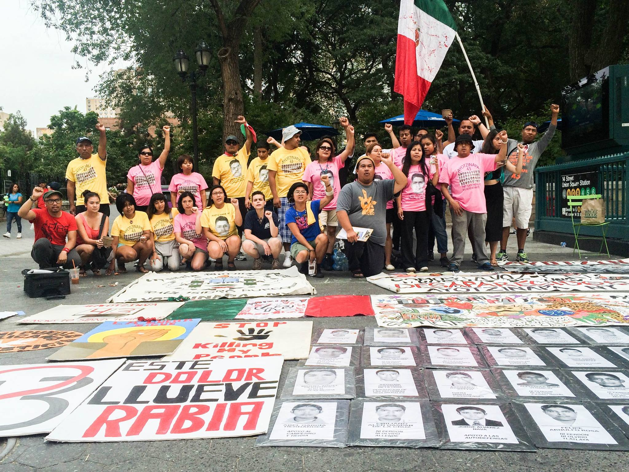 New York Committee for Human Rights in the Philippines (NYCHRP) and Ayotzinapa New York commemorate the International Day of the Disappeared (August 30, 2015)